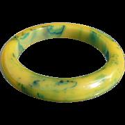 Yellow Green Bakelite Bracelet