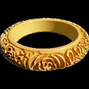 Deep Carved Bakelite Bracelet