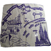1933 Century Progress Handkerchief