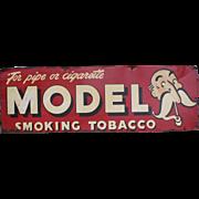 Model Tobacco Sign