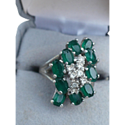 SALE Sterling Faux Gem Ring