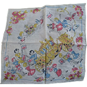 Queen Elizabeth Coronation Handkerchief