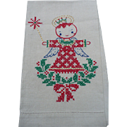 SOLD Xmas Angel Towel