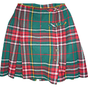 1950's Plaid Kilt
