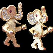 Goldtone Elephant Scatter Pins