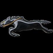 Black Bakelite Horse Pin