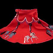 Felt Carousel Skirt