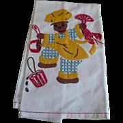 Black Lobster Chef Towel