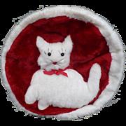 1960's Plush Kitty Pajama Bag