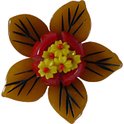 Bakelite Flower Pin