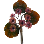 Large Blumenthal Bakelite Flower Pin