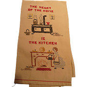 Heart of Home  Kitchen Embroidered Towel