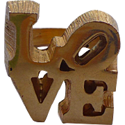 Love Ring Robert Indiana