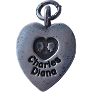 Charles Diana Sterling Heart Charm
