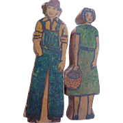 Folk Art Man & Woman Figures