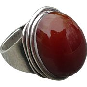 Rebajes Sterling Carnelian Ring