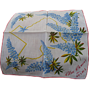 Texas Blue Bonnet Handkerchief