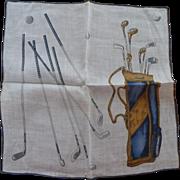 SOLD Golf Theme Handkerchief