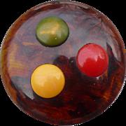 Four Color Bakelite Button