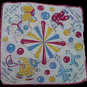 Circus Clown Handkerchief