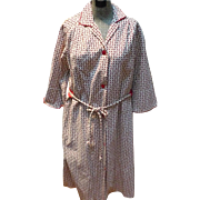 Corduroy  Housecoat Paisley Robe by Evelyn Pearson