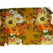 60's Floral Fabric
