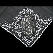 Initial R Handkerchief