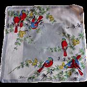 Birds Spring Handkerchief