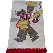 Black Waiter Towel