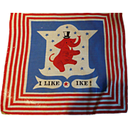I Like Ike Political Handkerchief