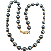 Hematite Beaded Necklace