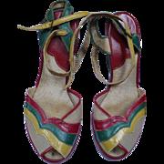 1940's Multicolor Shoes