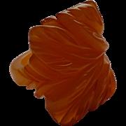 Carved Bakelite Ring