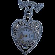 Walker Heart Lapel Watch