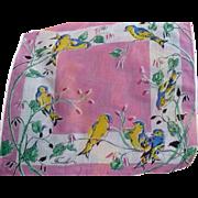 Finch Bird Handkerchief