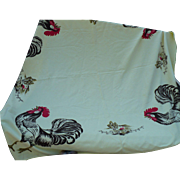 Yellow Rooster Tablecloth