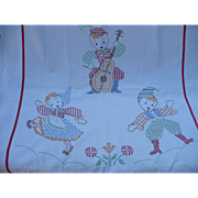 Embroidered Crib Cover