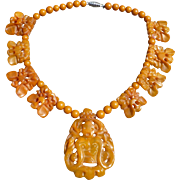 Bakelite Figural Beaded Necklace