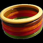 Bakelite Spacer Bracelets