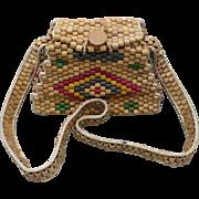 Wooden Bead Purse