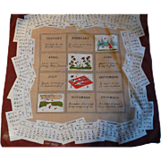 1953 Calendar Handerchief