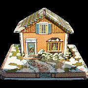 Tin Xmas House Bank
