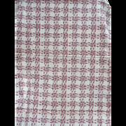 1940's Cotton Plaid Fabric