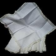 Linen Lace Napkins 12