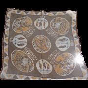 1939 Chiffon Worlds Fair Handkerchief Scarf