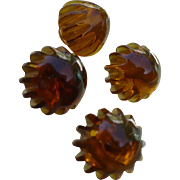 Four Root Beer Bakelite Buttons