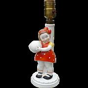 Ceramic Little Girl Lamp