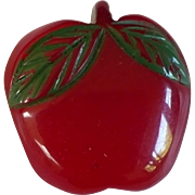 Bakelite Apple Button