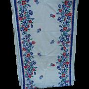 Print Flower Toweling Fabric