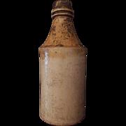 Old Stoneware Beer Bottle